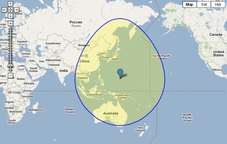 Guam world map